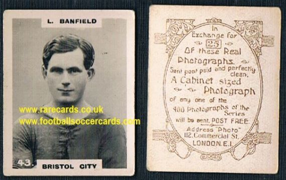 1919 pinnace brown oval back Bristol City Banfield 43